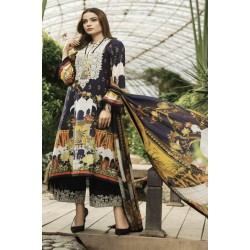 Afrozeh Sienna Lawn 2020 Designer Pakistani Suits 09-Night Glory