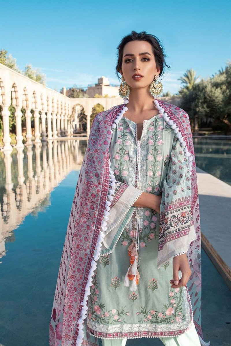 Salwar Kameez Sobia Nazir Vital Lawn Collection 2020 Design 3A
