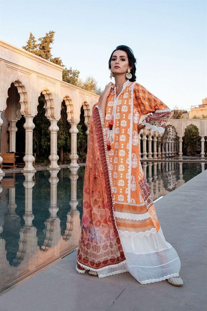 Salwar Kameez Sobia Nazir Vital Lawn Collection 2020 Design 6A