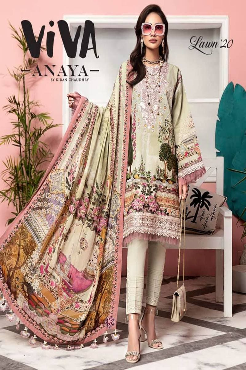 Anaya by Kiran Chaudhry Viva Lawn Collection 2020 Salwar Kameez Valentina